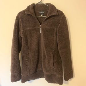 Brown Athleta Zip Up Sweatshirt